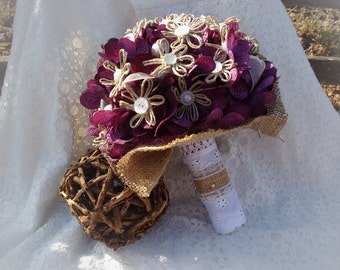 Purple Country Chic Bouquet (customizable!)