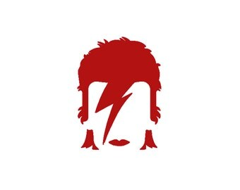David Bowie Decal - Bowie Decal / Ziggy Stardust / Vinyl Decal / Glam