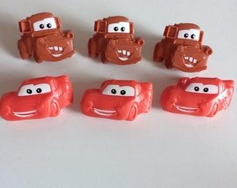 Set of 6 Disney 'Cars' cupcake rings