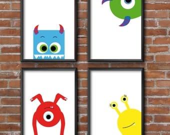 "4 set A5 poster ""Monster"""