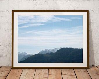 Mountain Landscape, Cloud Wall Decor, Cloud Backdrop, Farmhouse Bathroom Wall Decor, Farmhouse Bathroom, Farmhouse Finds, Farmhouse Prints