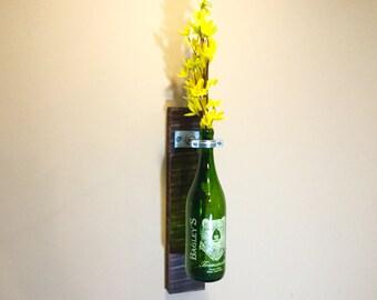 Wine Bottle Wall Vase