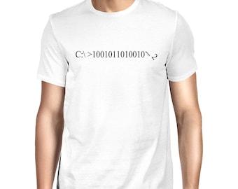 Binary T-shirt - fun computer code t-shirt