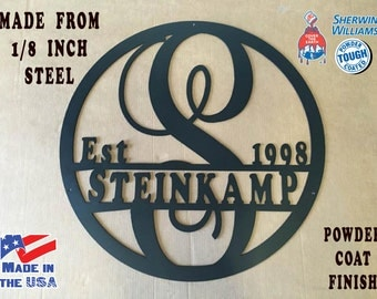 Monogram Steel Sign