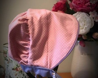 Baby Bonnet Summer Hat, Baby Sun Hat - reversible
