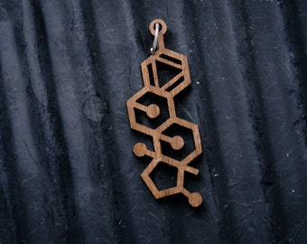 Estrogen Molecule Necklace pendant