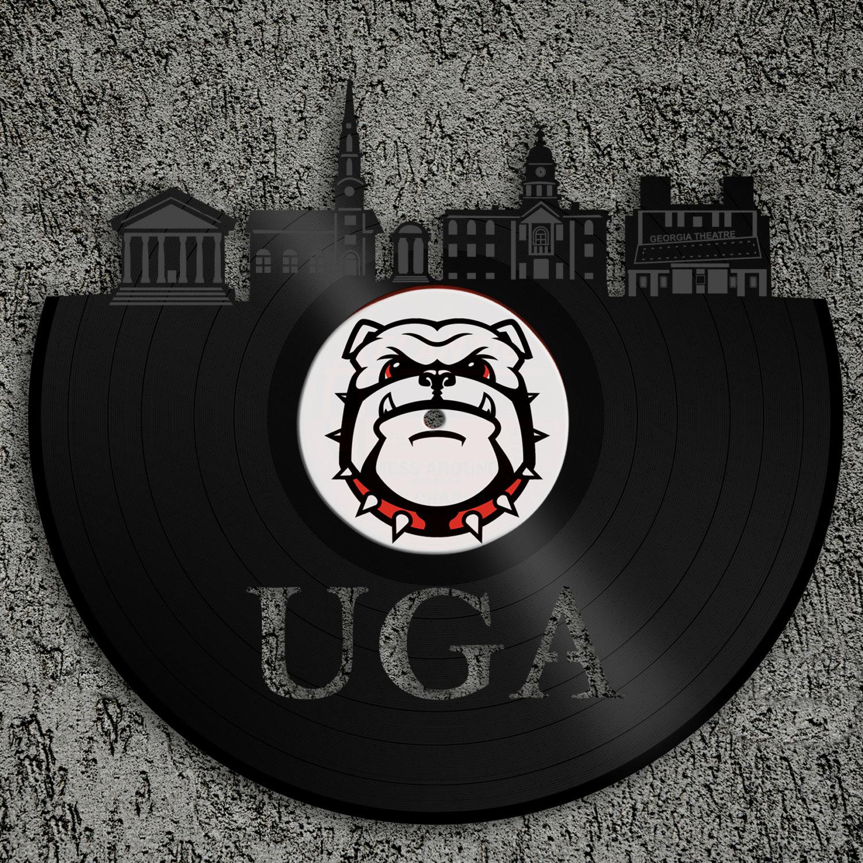 Command Wall Stickers Georgia Bulldogs Uga Athens Skyline Georgia Bulldogs Art