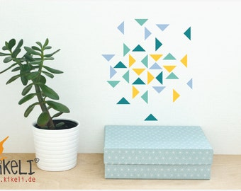 Wall decals wall sticker furniture stickers - Toledo triangles