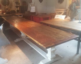 Enormous 4.7m long Refectory Dining Table. Seats 16 people with comfort.