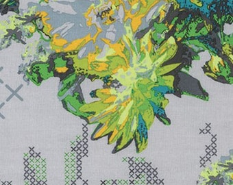 Anna Maria Horner Mod Corsage Memory in Field Fabric - Summer Floral Fabric by the Yard - Sale Fabric - Boutique Clothing - Modern Quilts