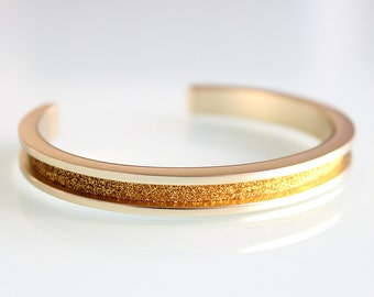 Hair Tie Bracelet, Hair Tie Bracelet Holder Cuff, Hair Band Bracelet in NEW GOLD GLITTER. Great ...