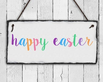 Easter Sign, Easter Plaque, Happy Easter, Happy Easter Sign, Easter Decor, Outdoor Decor, Outdoor Signs, Spring Decor