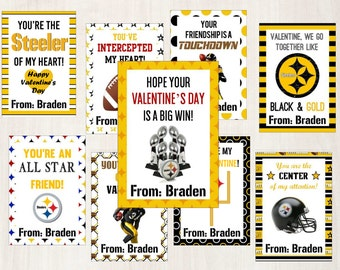 Steelers Printable Valentine's Day Cards!