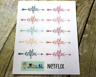 Netflix Planner Stickers - Movie Night Stickers - Erin Condren Life Planner - Happy Planner - Reminder stickers - Calendar Stickers - Binge