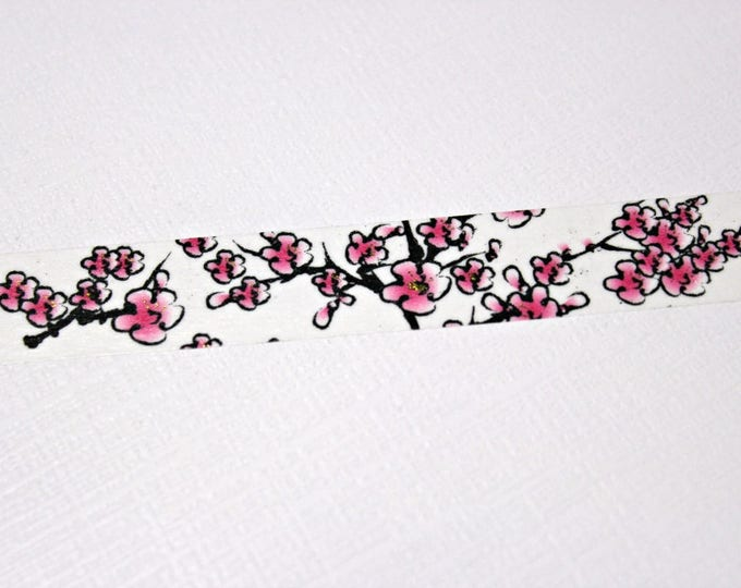 Cherry Blossom washi tape - Washi Tape - Floral Washi Tape - Paper Tape - Planner Washi Tape - Washi - Decorative Tape - Deco Paper Tape