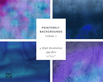 "Painterly Backgrounds Volume 2 - Design Resource  - 12""x12"" art printable paper."