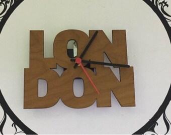 Wooden wall clock PARIS