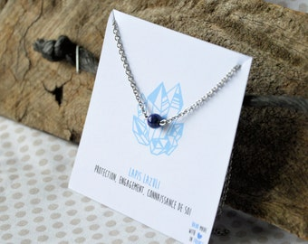 Lapis lazuli necklace stainless steel