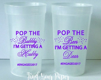 Wedding Cups, Personalized Event Cups, Personalized Engagement Cups, Party Favor Cups, Wedding Cups, Wedding Cup, Engagemnt Party