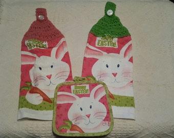 Easter Crochet Towel Set 3 pc