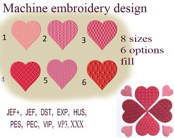 Machine embroidery designs. valentine heart embroidery design  Heart Design.  Embroidery heart. Embroidery Frame. Instant Download.