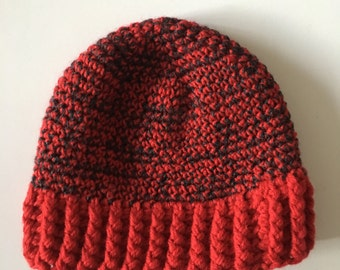 Tuque Snotlout red and dark grey (adult)