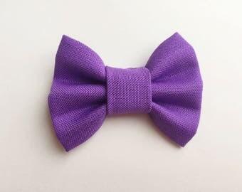 MINI Purple Bow, baby girl, girl toddler, baby clip, baby headband, toddler clip, toddler headband, baby gif, hair bows