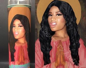 Nicki Minaj Devotional Prayer Saint Candle