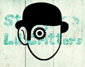 A Clockwork Orange - Vinyl Decal - Alex - Droogs - Stanley Kubrick - Malcolm McDowell - Bumper Sticker - for iPad, Laptop, Car, Truck etc
