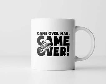 Aliens Coffee Mug |Game Over Man | Horror Movie Quote | Alien movie | Bill Paxton | Coffee Mugs With Sayings | Gift For Men | Movie Buff
