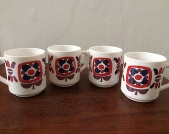2 cups Mugs mobile - purple, Navy Blue, Red