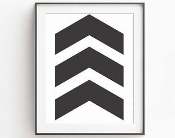 Modern Geometric Wall Decor - Minimalist Wall Art - Living Room Wall Art - Wall Decor - Geometric Art - Arrow Print - Geometric Printable