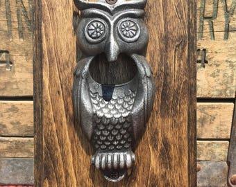 Olivia Owl Wall Mounted Bottle Opener