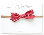 Small Schoolgirl Bow | Hearts in Punch