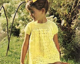 Girls Dress, Crochet Pattern. PDF Instant Download.