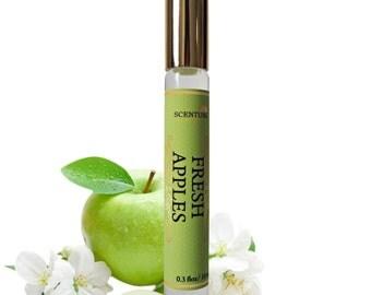 Organic Fresh Apple PERFUME Oil, Apple Perfume Roll On, Vegan Perfume, Natural Perfume Oil, Gift Idea