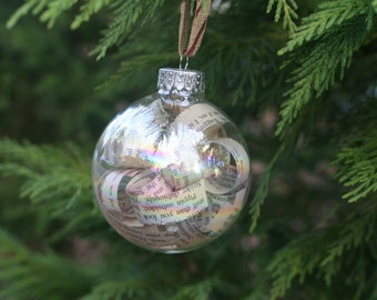 Book Page Christmas Ornaments