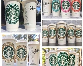 Starbucks Cup, Starbucks Personalized Coffee Cup, Reusable Coffee Mug, Personalized Coffee Mug, Reusable Coffee Cup, Personalized Coffee Cup