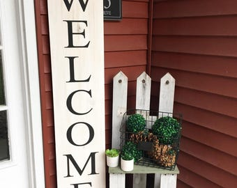 Welcome, Welcome sign, Front porch sign, Outdoor sign, Outdoor wood sign, Wood sign