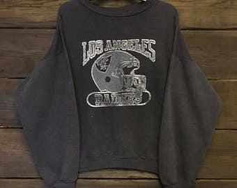 1980's 80's Los Angeles Raiders Sweater Sweatshirt