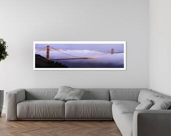 San Francisco print,San Francisco art,San francisco bridge,Golden Gate,Wall art print,Large wall art,San Francisco photography,City print
