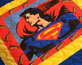 Superman Quilted Throw Blanket