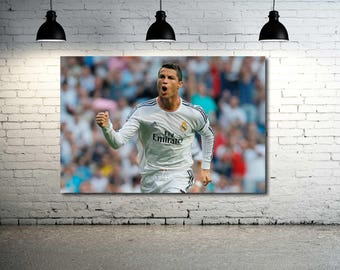 Cristiano Ronaldo Canvas Print NEW 36 x 24 HD Photo Detail