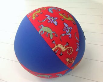 Balloon Ball Fabric, Balloon Ball Cover, Portable Ball, Travel Ball, Inflatable, Sensory, Special Needs, Geckos, Red, Blue, Kids, Eumundi