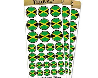 Flag Of Jamaica Removable Matte Sticker Sheets Set
