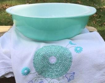 Pyrex Vintage Aqua Casserole Dish
