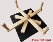 Ball winder Table Top Yarn Swift Skein winder Winder Adjustable Skeinwinder Wood Skein holder OAK Knitting tool Yarn winder Yarn meter