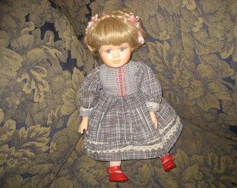 Braided Hair Dutch/German Genuine Porcelain Doll