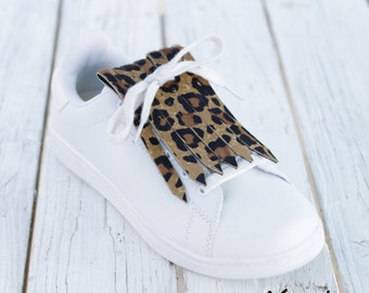 Fringed Leather for Sneakers - Leopard