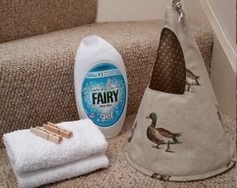 Peg bag. Conical shape. Duck peg bag, Mallard, clothe pin holder, Mothers day gift, Laundry